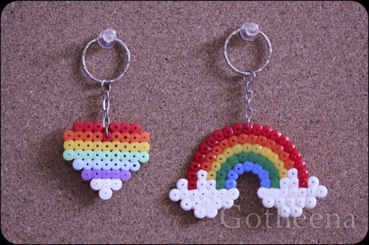 Gotheena Monsta Kraft New Perler Beads Keychains
