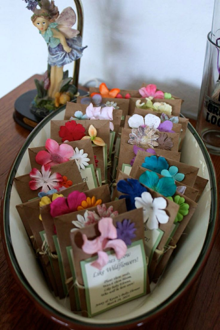 Wildflower Baby Shower Favors   Enchanted Forest Theme