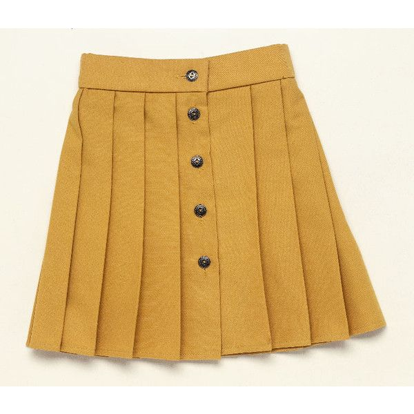 dkimages - discover - decorative arts - Skirts found on Polyvore featuring skirts, bottoms, yellow, brown skirt, yellow skirt and embellished skirt