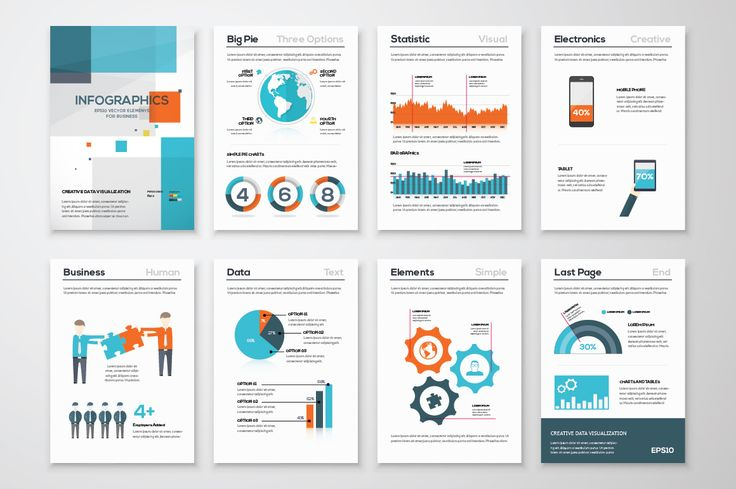 Infographic Brochure Elements 14 by Infographic Template Shop on @creativemarket
