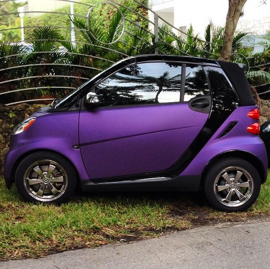 Matte purple smart taking on the world.