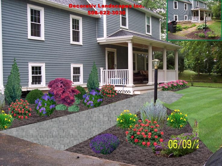 45 best front of home landscape designs images on pinterest