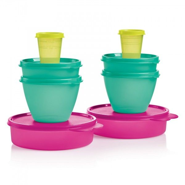 Little Bit of Everything Set:          One week only! Take advantage of summer savings on this special set of Tupperware Classics.Make salads, sides and more, then store! Includes two each 2-oz./60 mL Tupper™ Minis, 6-oz./177 mL Little Wonders® Bowls, 13½-oz./400 mL Refrigerator Bowls and 2-cup/500 mL Big Wonders® Bowls.Dishwasher safeLimited Lifetime WarrantyNote: Colors may vary and substitutions may occur.         Item:10126443000