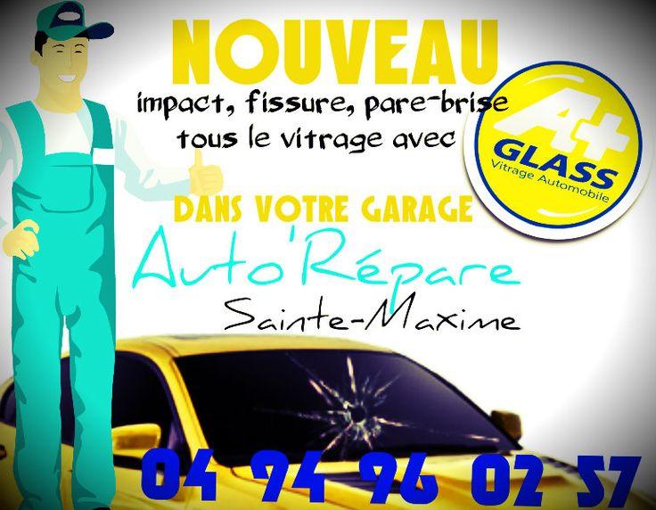 Nouveau chez @AutoRepar, votre #PareBrise Avec @aplusglass spécialiste de la réparation et du remplacement de tous vitrages sur véhicules.