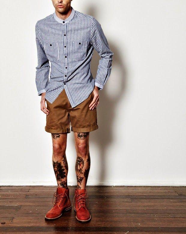 Bota Masculina com Bermuda. Macho Moda - Blog de Moda Masculina: Como usar Bota Masculina com Shorts ou Bermuda? Moda Masculina, Roupa de Homem, Moda para Homens,