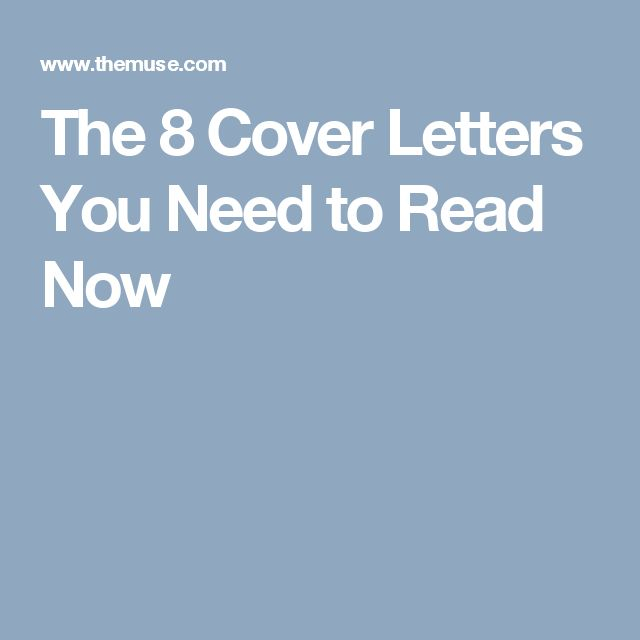 Nice The 8 Cover Letters You Need To Read Now
