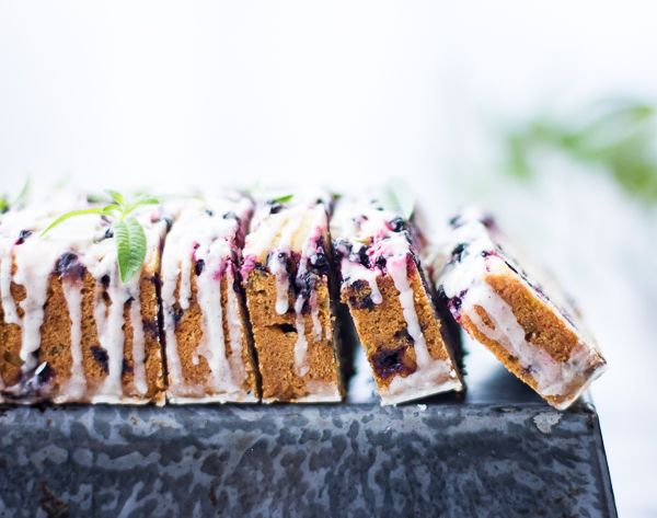The Bojon Gourmet: Huckleberry Lemon Verbena Tea Cake {Gluten-Free}