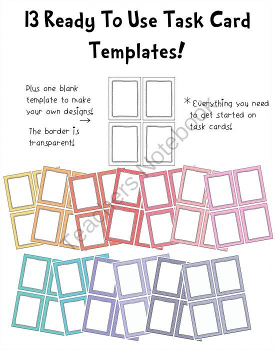 blank task card template pin by amber robbins on my classroom pinterest