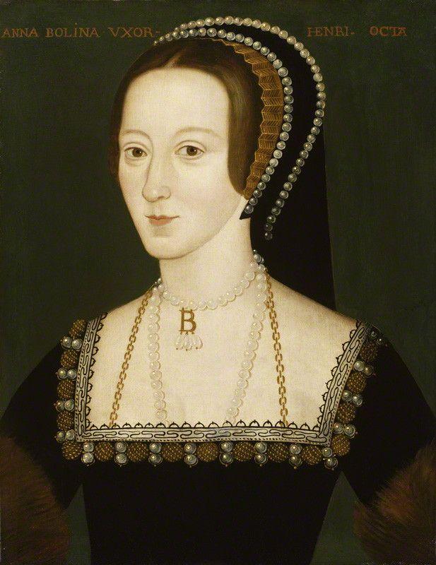 Anne Boleyn, by Unknown artist, late 16th century (circa 1533-1536) - NPG 668 - © National Portrait Gallery, London