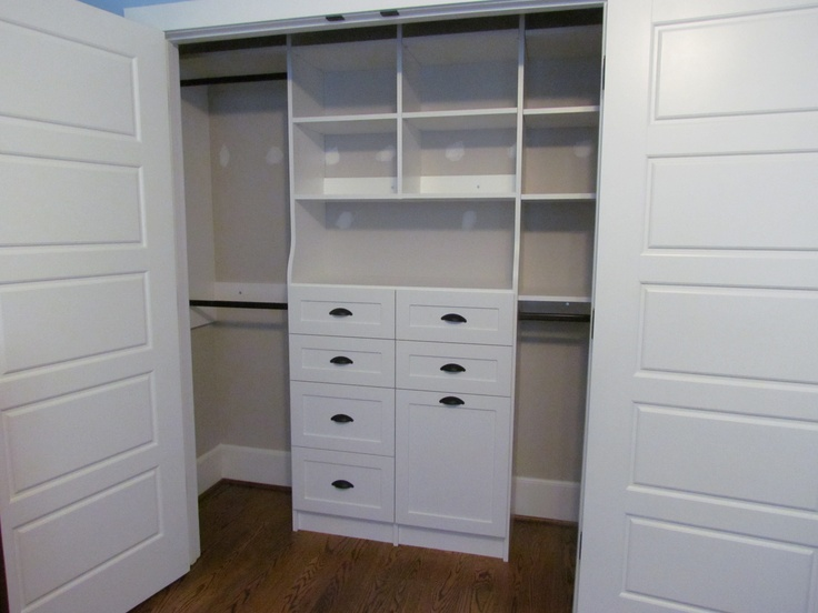 Drawers in a closet make the most of a small bedroom  allowing for minimal  furniture. 8 best images about Reach In Closets on Pinterest   The morning