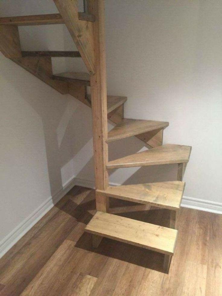 42 inspiradoras idéias de design de escada loft para economizar espaço   – Tiny house stairs