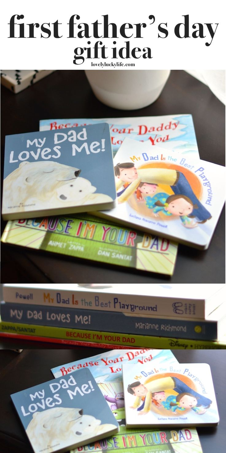 this is the best idea for a father's day gift! daddy books for the new dad // lovelyluckylife.com  #fathersday #fathersdaygift #firstfathersday