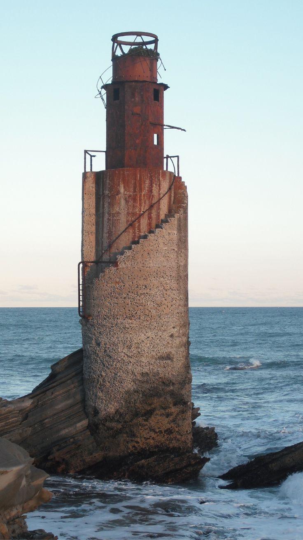 Abandoned Lighthouse, Tuahine Point, Gisborne, East Cape, New Zealand- from sidecargranny