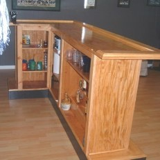 Bar plans home bars and bar on pinterest for Basement bar dimensions plans