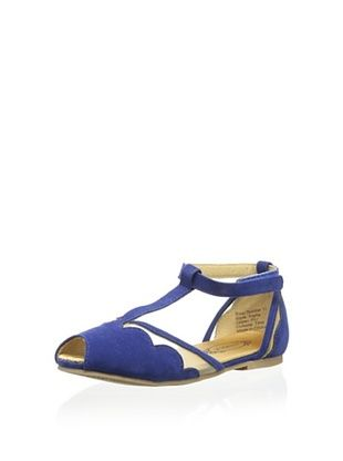35% OFF Joyfolie Kid's Stella T Strap Sandal (Royal Blue)