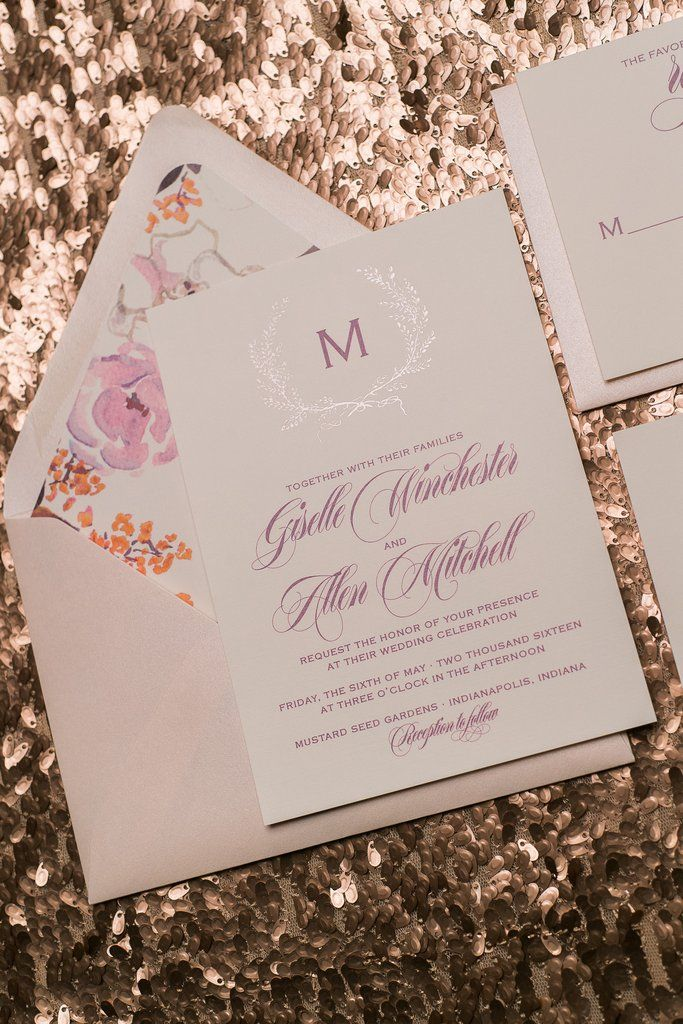 pink and gold wedding invitation kits%0A GISELLE Suite Glitter Package  grey  rose gold  burgundy  rose gold glitter  wedding