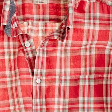 Indian cotton shirt in Lexden plaid $69.50