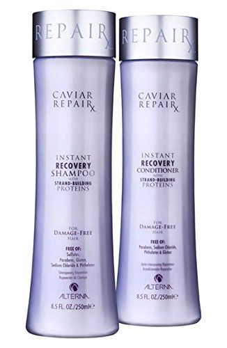 Alterna Caviar Repair Instant Recovery Shampoo. Awesome for my dry damage from swimming and it's cruelty free!