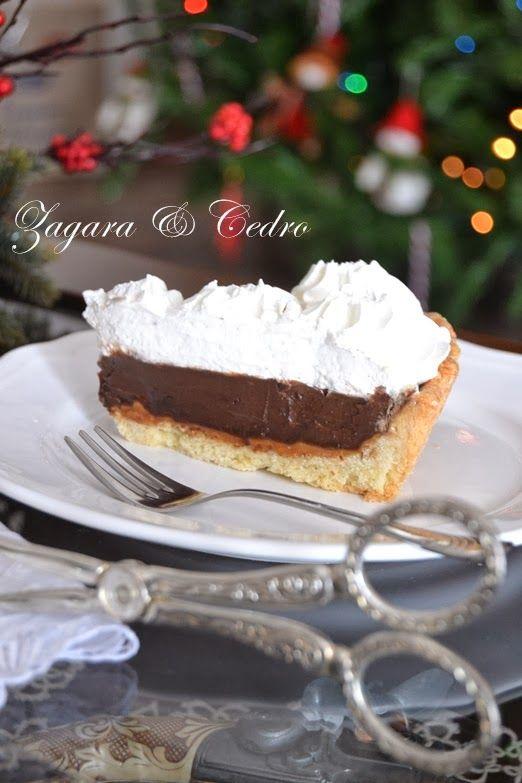 Crostata con Ganache al Cioccolato,Caramello salato e una montagna di Panna | Zagara e Cedro
