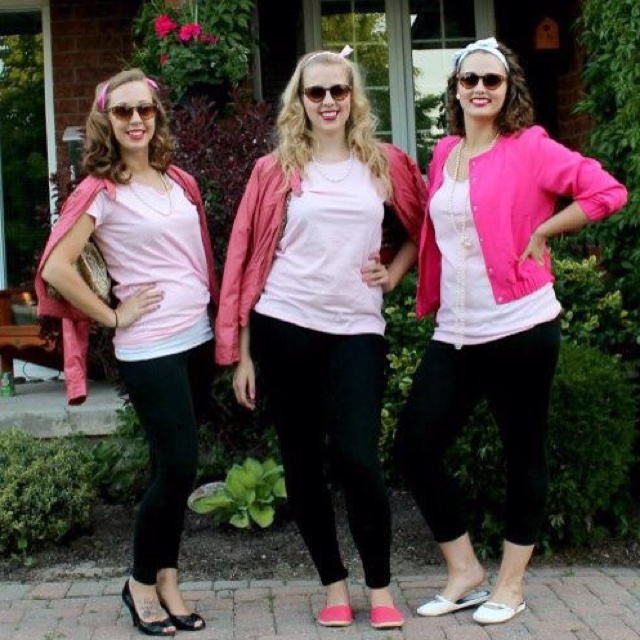 Pink Ladies - Grease themed event :) ....wish i new how to make colleges to show you more ! :(