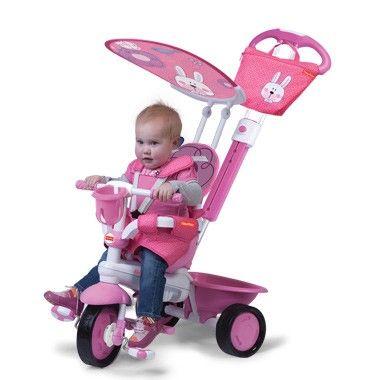 Fisher-price driewielfiets met duwstang roze. Neem je kleine meid mee voor een heerlijk ritje in de buitenlucht op deze mooie roze driewielfiets van Fisher-Price. Door de veiligheidsgordels en de duwstang kunnen kinderen vanaf 10 maanden al genieten van de driewieler.  #speelgoed #toys