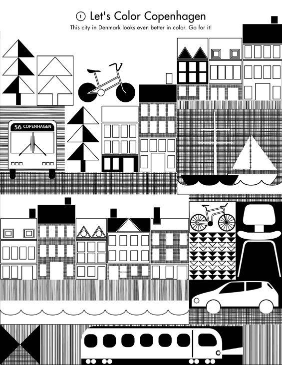 Free printable Copenhagen Coloring Page