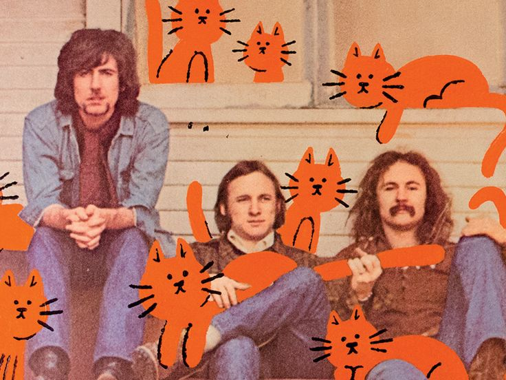 Crosby, Stills, Nash & Cats by Bart Aalbers
