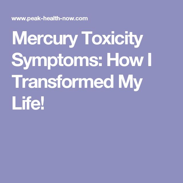 what happens when you ingest mercury