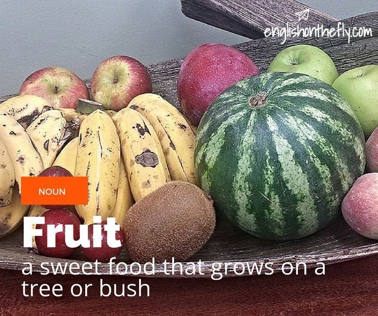English vocabulary for ESL and EFL students. Fruit