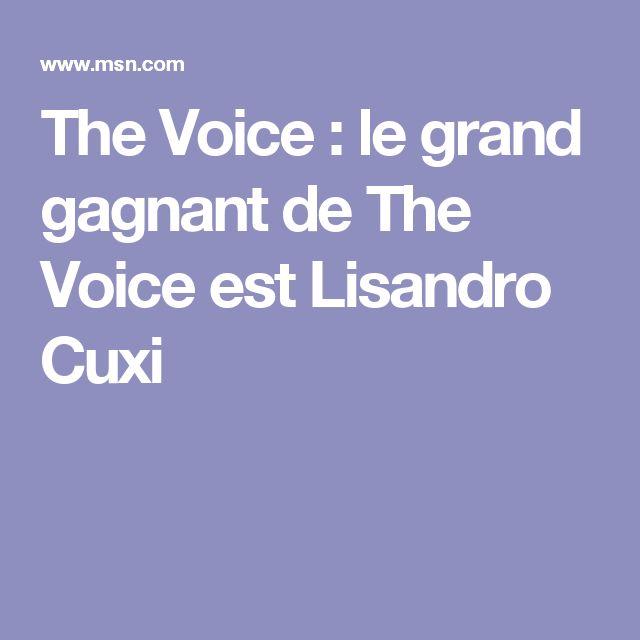 The Voice : le grand gagnant de The Voice est Lisandro Cuxi