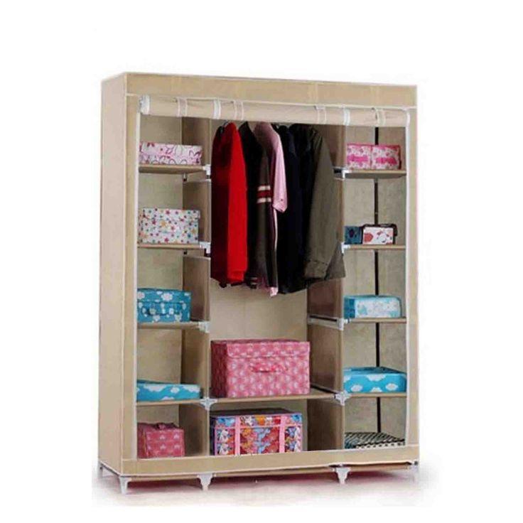 "Amazon.com - Portable Closet Organizer Storage Wardrobe Home Shelf Hanger Rack 68"" (Cream) -"