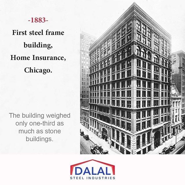 Did you Know ? > The Home Insurance Building was a skyscraper in Chicago United States generally noted as the first tall building to be supported both inside and outside by a fireproof metal frame. #dsifact #dsi #didyouknow #skyscraper #skyscrapers #chicago #steelstructures #steelfacts #architecturelover #architecture