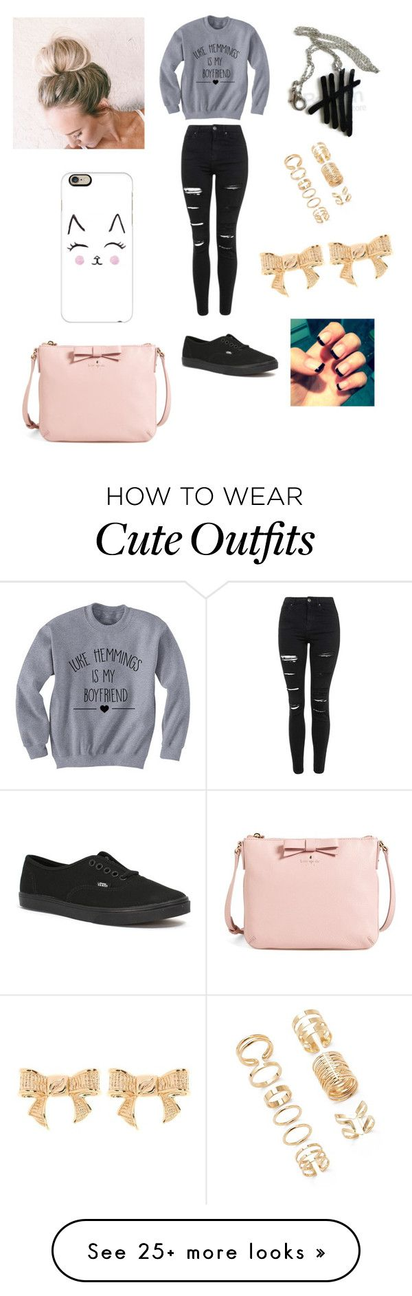 """Luke Hemmings from 5sos inspired outfit5️⃣"" by chloepile1 on Polyvore featuring Topshop, Vans, Forever 21, Casetify, Kate Spade, Ted Baker, women's clothing, women's fashion, women and female"