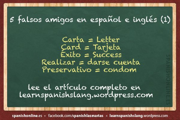 false friends español~ingles - Buscar con Google