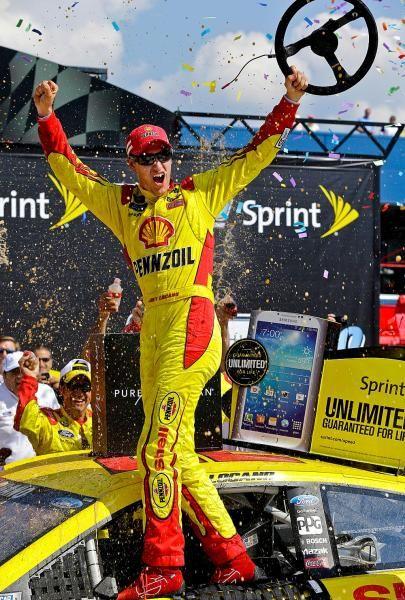 Joey Logano-wins Texas Motor Speedway..4-7-2014