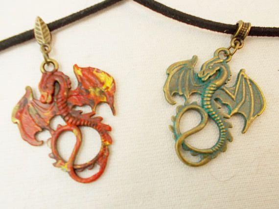 Goth #unisex choker #GameofThrones cosplay #dragon #steampunk jewelry