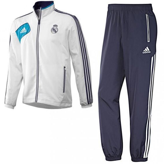 Chandal Real Madrid blanco hombre Antes: 129.95 Ahora: 59.95 € #outlet #futbol
