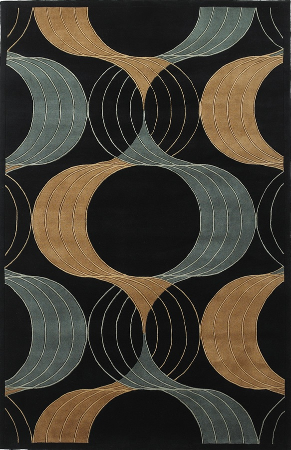 RugStudio Presents Kas Signature Prism Views Black 9148 Hand Tufted, Best  Quality Area Rug