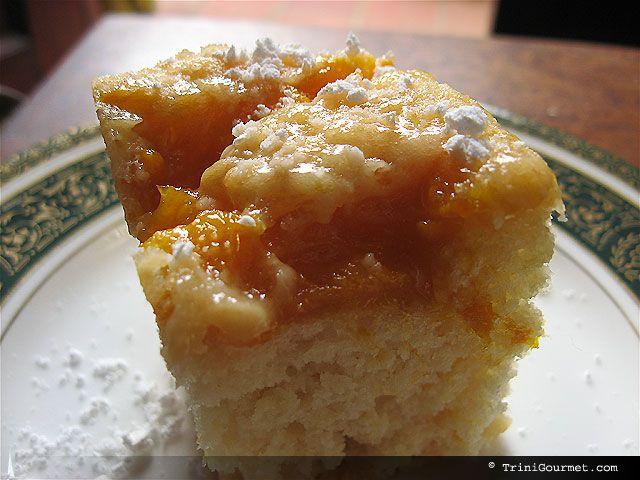 Made this Mango Cake recipe. Next time I will put the mangos on the bottom.