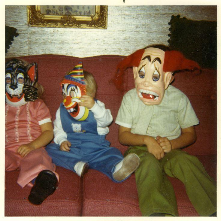 vintage Halloween photo of kids