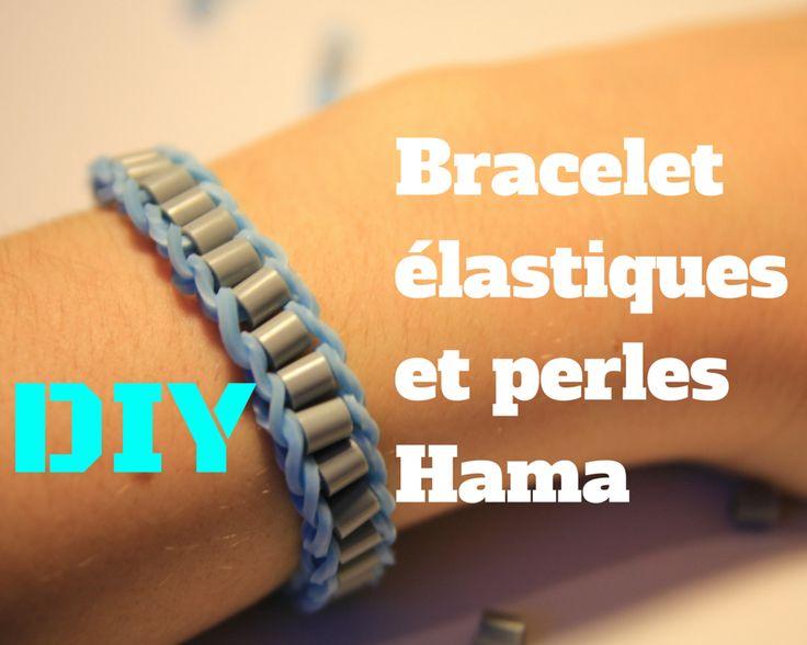 Les 35 meilleures images propos de perles repasser loisirs cr atifs sur pinterest cartes d - Faire des bracelets elastiques ...