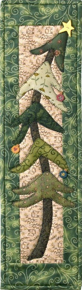 Holiday Tree - P45 quilted runner