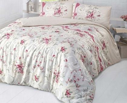 Купить постельное белье RANFORCE DURU бежевое 50х70 евро от производителя Altinbasak (Турция)