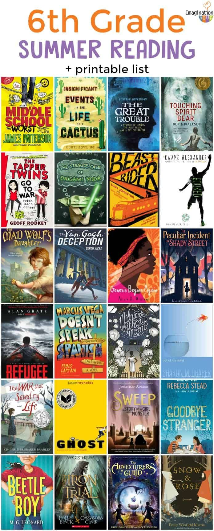 6th Grade Summer Reading List Ages 11 12 Sixth Grade Reading 6th Grade Reading Summer Reading Lists What books should grade be reading