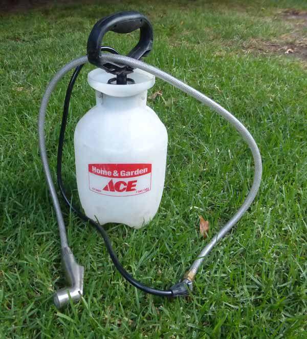 weed sprayer camping shower