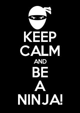 KEEP CALM AND BE A NINJA!