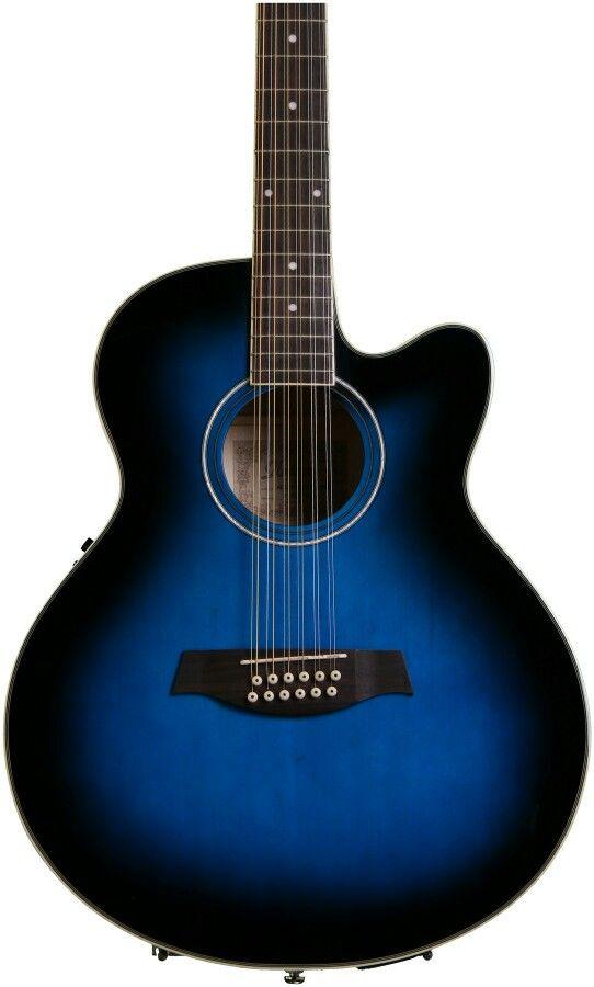 Ibanez AEL1512E Transparent Blue Sunburst