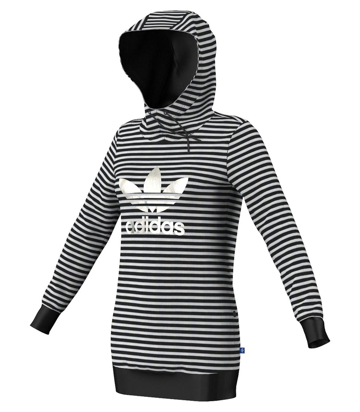 Adidas Originals Striped Logo - Vêtements - Femme - Chandails - Sports Experts