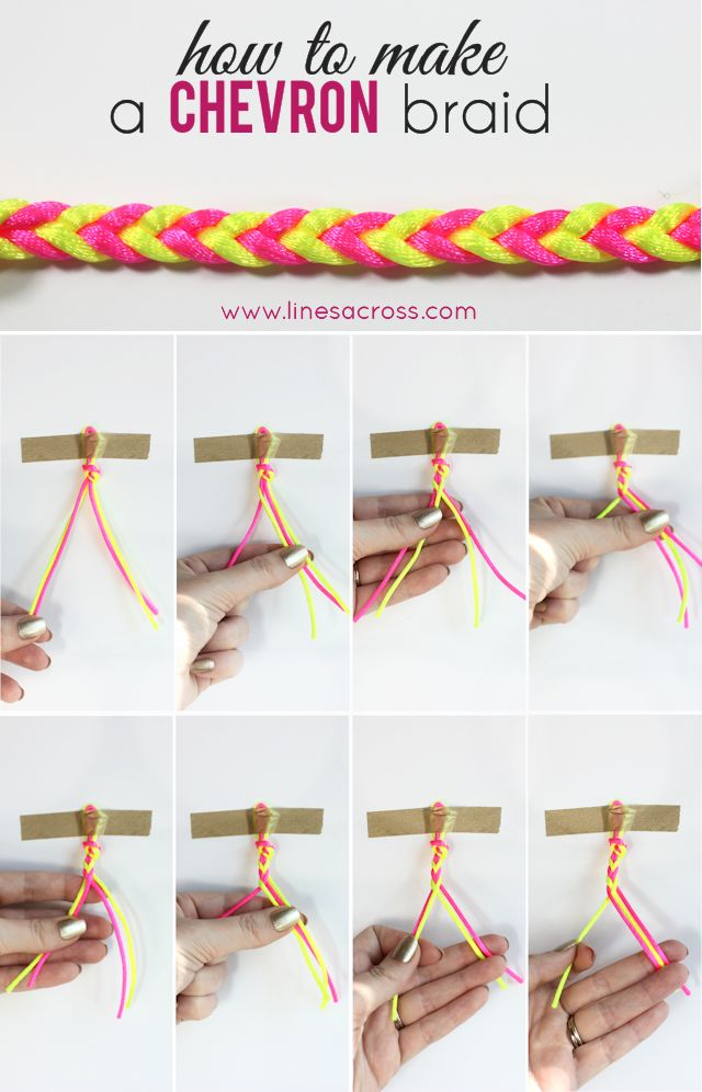 16 Easy Ways To Do A Frashionable Bracelets Diy Bracelet Crafts Braids Chevron