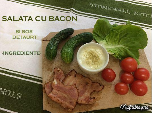 Salată cu bacon și sos de iaurt - Nutriblog